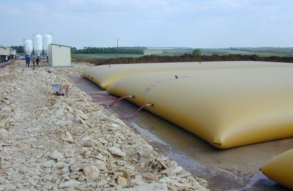 Cisterna flexible para agua 3×350 m3