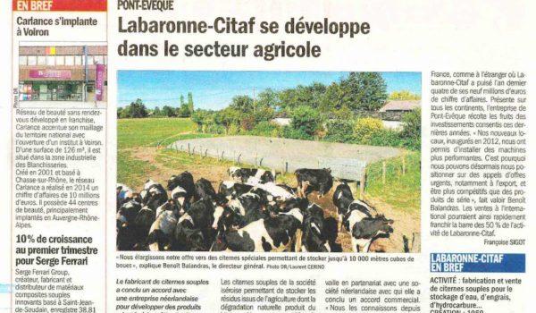 Articulo Le Dauphiné Libéré – 3 mayo